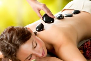 hot stone massage at Synergy beauty salon in Studley