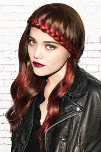cool-plaited-festival hair at Synergy hair salon Studley