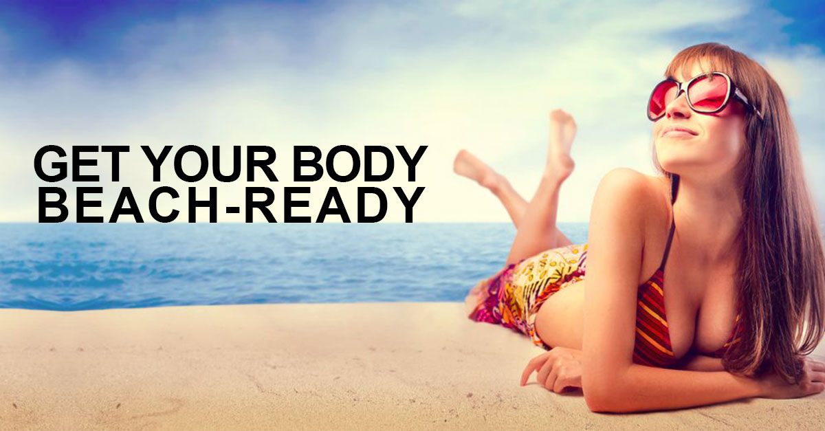 Get-Your-Body-Beach-Ready at synergy hair and beauty salon in studley
