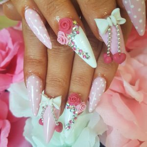 acrylic nails in studley at synergy beauty salon