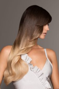 ombre hair colour at synergy hairdressers in studley