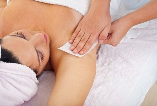 Underarm waxing at synergy beauty salon in studley