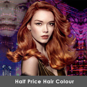 half price hair colour offer at synergy hair and beauty salon in oakenshaw